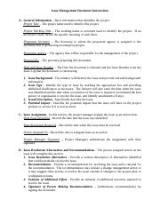 Issue-Management-Document-Instructions