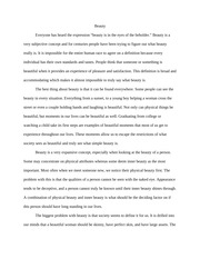 Beauty essay