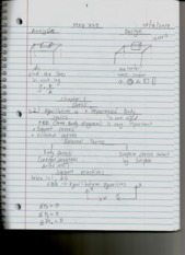 MAE 220 Notes 1