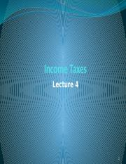 Lecture 4 - Income Taxes