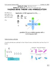 15-Valence Bond Theory and Hybridization