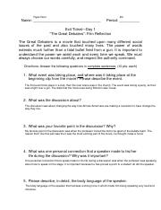 the great debaters film reflection exit 1 name period exit rh coursehero com The Great Debaters Worksheet The Great Debaters Lesson Plans