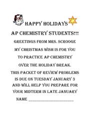 Happy holidays-review packet (answers)
