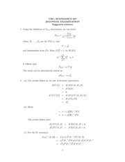 ECON 527 Fall 2013 Final Exam Solutions