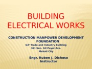 Course outline of building wiring and installation