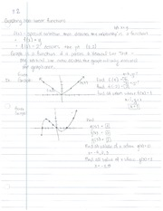 8.2, Functions and non-linear graphs