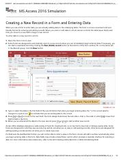 19 - Creating a New Record in a Form and Entering Data