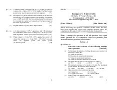 (www.entrance-exam.net)-Lingaya's University B.Tech 1st Year Electrical Engineering (EL-101) Sample