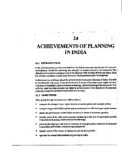 L-24 ACHIEVEMENTS OF PLANNING IN INDIA