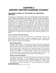 Aviation Planning Textbook SI CHP 2 Airport Master Planning Studies.docx