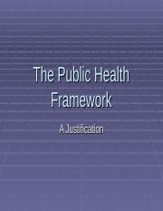 The Public Health Framework2.pps