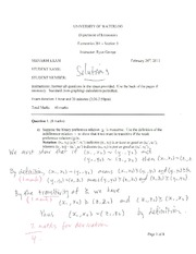 econ 201 - winter 13 midterm - solutions