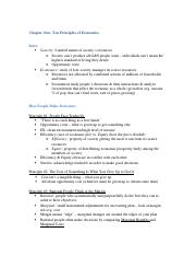 Econ Chapter Notes (TEXT)