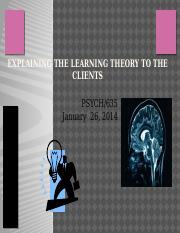 psych_635_week_1_individual_assignment_explaining_learning_theory_to_clients