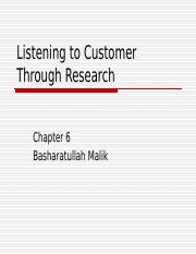 6 Service Mkg-Listening to Customer  ch 6 Through Research.ppt