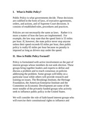 How is U S  Public Policy Formed
