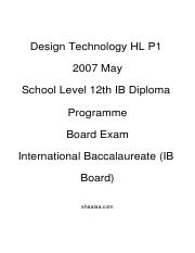 (www.entrance-exam.net)-IB Board-12th IB Diploma Programme Design Technology HL P1 Sample Paper 4.pd