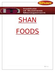 Shan foods report-FINAL