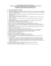 Nursing Research and Evidence-Based Practice Questions.docx