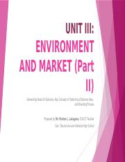 UNIT III - ENVIRONMENT AND MARKET (Part II).pptx