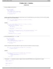 CS112  Fall 2014 - Problem Set 2 Solution