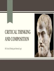 Critical Thinking and Composition 2016 day 10