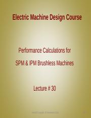 Lecture30 - Performance Calculations for SPM & IPM Brushless Machines.pdf