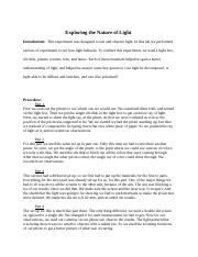 Exploring the Nature of Light .docx