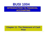 chapter 11- statement of cash flow for WebCT0