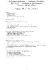 (708596416) CH 24 Money Price Inflation