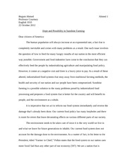 meaningful object essay begum ahmed professor courtney english 5 pages sunshine farming essay
