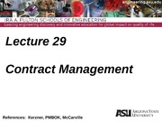Lecture 29dm Contract Management(1)