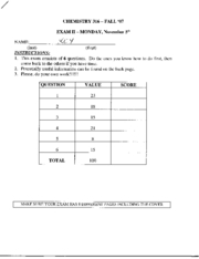 CHEM 316 - exam2key