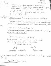 Pyshcology notes for experimental designs
