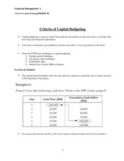 Criteria of capital budgeting-6