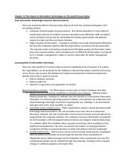 Chapter 12 The Impact of Information Technologies on The Audit Process Notes.docx