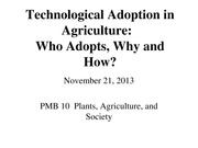 24 - Technological Adoption in Agriculture Who Adopts, Why and How