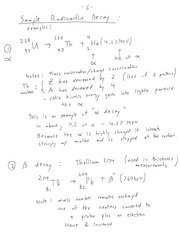 CHE 141 Sample Radioactive Decay Notes