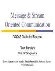 05 - Message  Stream Oriented Communication