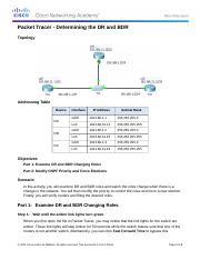5.1.1.12 Packet Tracer - Determining the DR and BDR Instructions