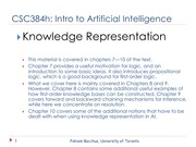 Lecture: Knowledge Representation