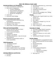 MGT 382 Midterm Study Guide Winter 2014