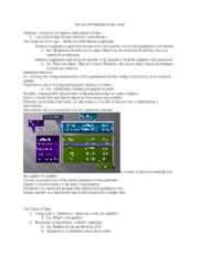 Statistics Midterm 1 Study Guide