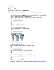 CLA 1010 Assignment 3 Introduction to Classical Architecture (1).doc