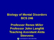 Lecture 1 - Introduction Defining Mental Illness