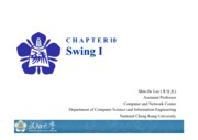 Chapter 10 Swing I