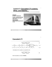 Lecture 03 - Cascaded LTI