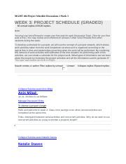 MGMT 404 Project Schedule Discussions 1 Week 3 - Copy.docx