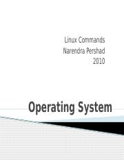 Operating System - Linux Command