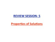 Review Session-5